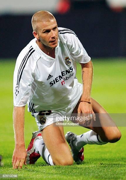 Fussball Champions League 04/05 Leverkusen Bayer 04 Leverkusen Real Madrid 30 David BECKHAM / Madrid 150904