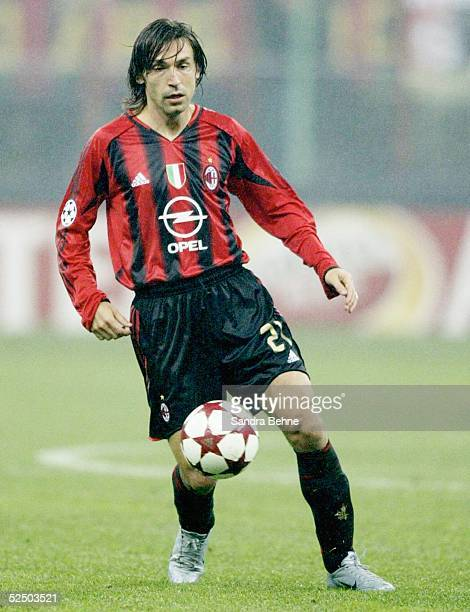 Fussball Champions League 04/05 Mailand AC Mailand FC Barcelona 10 Andrea PIRLO / Milan 201004