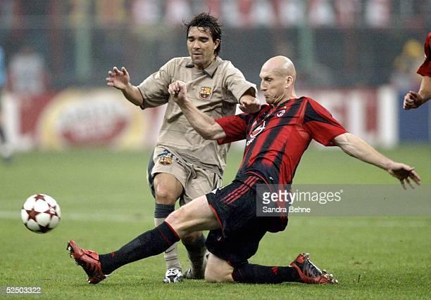 Fussball Champions League 04/05 Mailand AC Mailand FC Barcelona 10 vl DECO / Barcelona Jaap STAM / Milan 201004