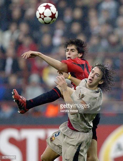 Fussball Champions League 04/05 Mailand AC Mailand FC Barcelona 10 vl KAKA / Milan Carles PUYOL / Barcelona 201004