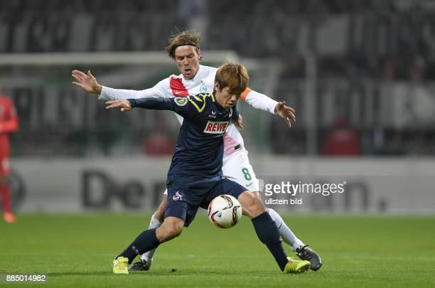 Fussball DFB SV Werder Bremen 1 FC Koeln Yuya Osako vor Clemens Fritz