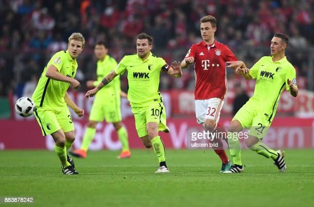 Fussball DFB Pokal 2 Runde Saison 2016/2017 FC Bayern Muenchen FC Augsburg Martin Hinteregger Daniel Baier Dominik Kohr gegen Joshua Kimmich