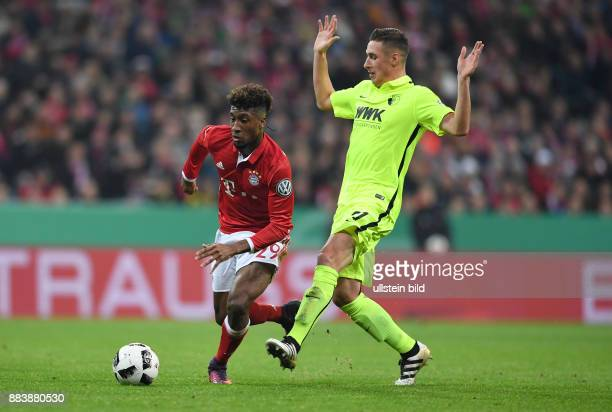 Fussball DFB Pokal 2 Runde Saison 2016/2017 FC Bayern Muenchen FC Augsburg Kingsley Coman gegen Dominik Kohr