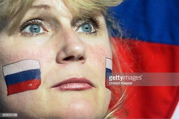 Traurigkeit in den Augen dieses russischen Fans nach dem vorzeitigen Ausscheiden aus dem Turnier 16.06.04.