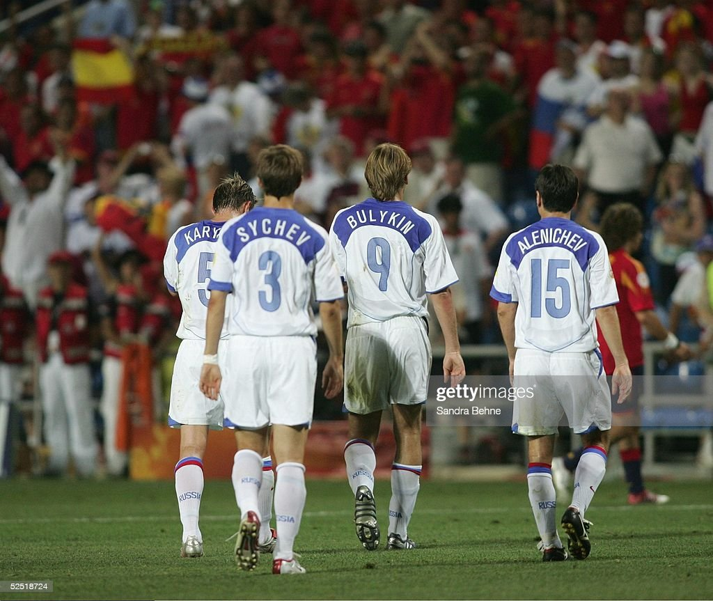Fussball: EM 2004 in Portugal, ESP-RUS : News Photo