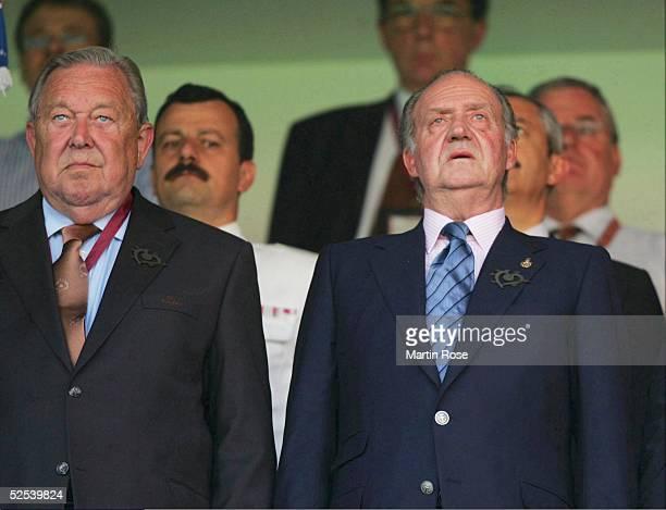 Lennart JOHANSSON und Koenig Juan-Carlos von Spanien 16.06.04.