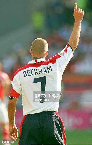 Fussball Euro 2004 in Portugal Vorrunde / Gruppe B / Spiel 11 Coimbra England Schweiz 30 David BECKHAM / ENG 170604