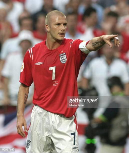 Fussball Euro 2004 in Portugal Vorrunde / Gruppe B / Spiel 20 Lissabon Kroatien England 24 David BECKHAM / ENG 210604