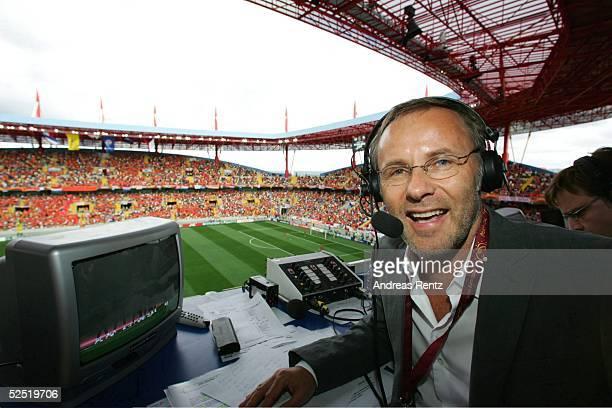 Fernsehen Kommentator Reinhold BECKMANN 19.06.04.