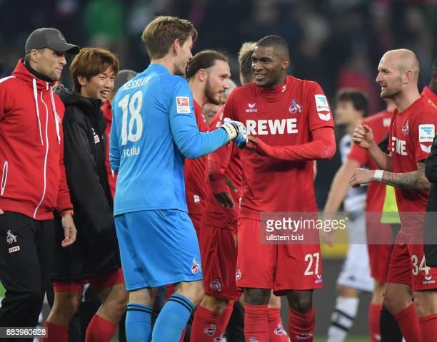 Fussball GER 1 Bundesliga Saison 2016 2017 11 Spieltag Borussia Moenchengladbach 1 FC Koeln 12 Anthony Modeste re feiert mit Torwart Thomas Kessler