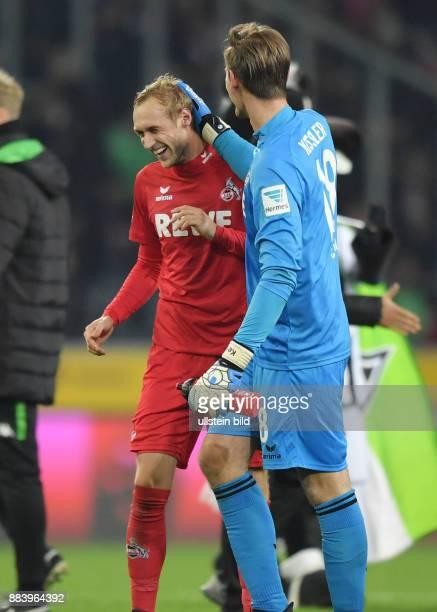 Fussball GER 1 Bundesliga Saison 2016 2017 11 Spieltag Borussia Moenchengladbach 1 FC Koeln 12 Jubel Torwart Thomas Kessler re und Marcel Risse
