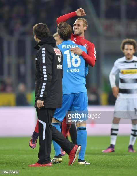 Fussball GER 1 Bundesliga Saison 2016 2017 11 Spieltag Borussia Moenchengladbach 1 FC Koeln 12 Jubel Torwart Thomas Kessler li und Marcel Risse