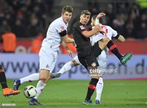 Fussball GER 1 Bundesliga Saison 2016 2017 16 Spieltag Koeln Bayer 04 Leverkusen vli Dominique Heintz Aleksandar Dragovic Mergim Mavraj