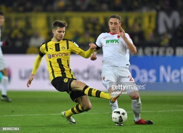 Fussball GER 1 Bundesliga Saison 2016 2017 16 Spieltag Borussia Dortmund FC Augsburg Julian Weigl li gegen Dominik Kohr