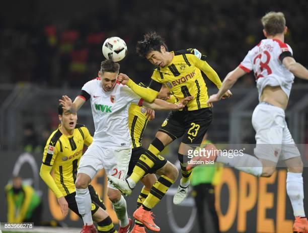 Fussball GER 1 Bundesliga Saison 2016 2017 16 Spieltag Shinji Kagawa re gegen Dominik Kohr
