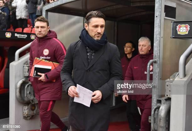 Fussball GER 1 Bundesliga Saison 2016 2017 20 Spieltag Bayer 04 Leverkusen Eintracht Frankfurt 30 vli Co Trainer Robert Kovac Trainer Niko Kovac Co...