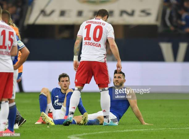 Fussball GER 1 Bundesliga Saison 2016 2017 33 Spieltag FC Schalke 04 Hamburger SV 11 vre Sead Kolasinac Pierre Michel Lasogga PierreMichel Lasogga...