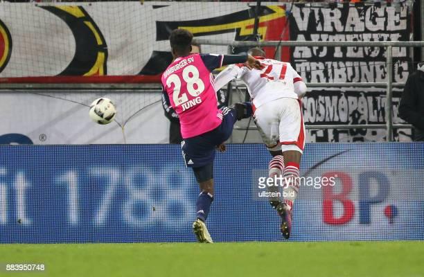 Fussball GER 1 Bundesliga Saison 2016 2017 9 Spieltag Koeln Hamburger SV Anthony Modeste re erzielt das Tor zum 30 links kommt Gideon Jung zu spaet