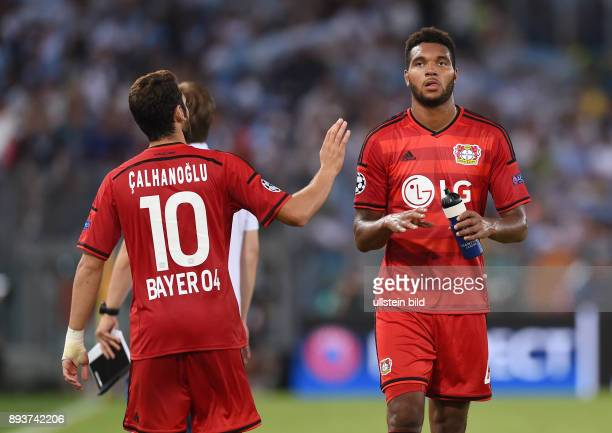 Fussball International Champions League Saison 2015/2016 Qualifikation Lazio Rom Bayer 04 Leverkusen Jonathan Tah und Hakan Calhanoglu