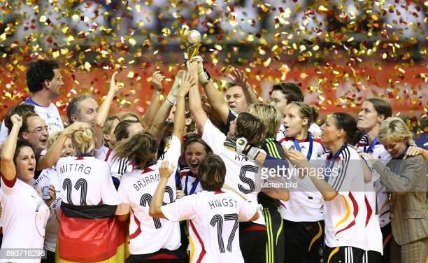 Fussball International Frauen WM China 2007 FINALE Deutschland Brasilien Germany Brazil GER Frauen Team ist Weltmeister