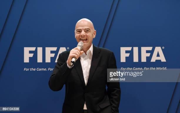 Fussball International Fussball International FIFA Praesident Gianni Infantino erster Tag im Home of Fifa Praesident Gianni Infantino beim FIFA Staff...