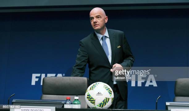Fussball International Pressekonferenz FIFA Praesident Gianni Infantino