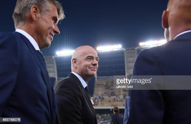 Fussball International Testspiel in Bari Italien Frankreich Praesident Gianni Infantino