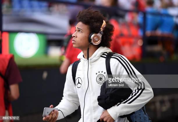 Fussball International Testspiel in Schalke Deutschland Ungarn Ankunft in der Schalke Arena Leroy Sane