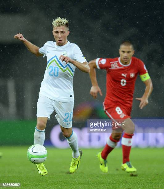 Fussball International WM Qualifikation 2014 in Bern Schweiz Slowenien Kevin Kampl am Ball
