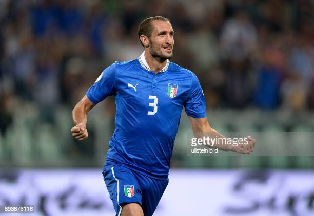 Fussball International WM Qualifikation 2014 Italien Tschechien Jubel Italien Giorgio Chiellini