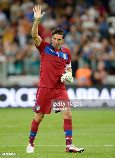 Fussball International WM Qualifikation 2014 Italien Tschechien Schlussjubel Torwart Gianluigi Buffon
