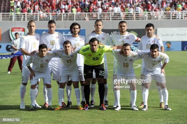 Fussball International WM Qualifikation 2014 Vereinigte Arabische Emirate Libanon Mannschaftsbild Libanon Libanon Ramez Dayoub Bilal Cheikh El...