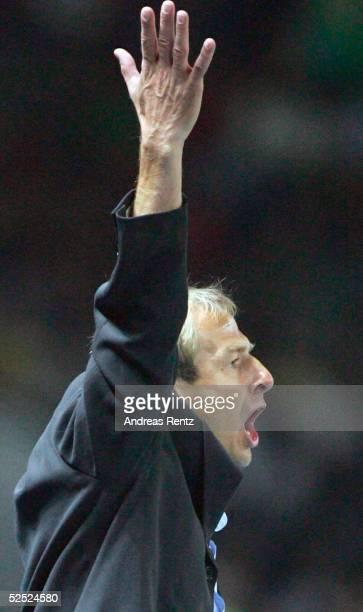 Fussball Laenderspiel 2004 Berlin Deutschland Brasilien 11 Trainer Juergen KLINSMANN / GER 080904