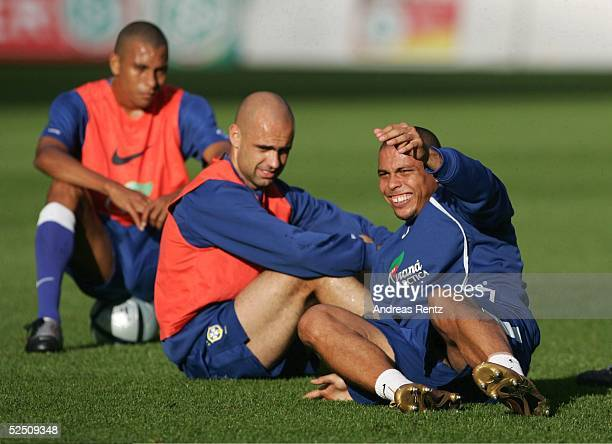 Fussball Laenderspiel 2004 Berlin Deutschland Brasilien Brasilien / Training RONALDO 070904