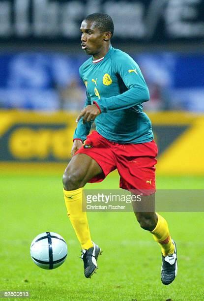 Fussball Laenderspiel 2004 Leipzig Deutschland Kamerun 30 Samuel ETO'O / CMR 171104