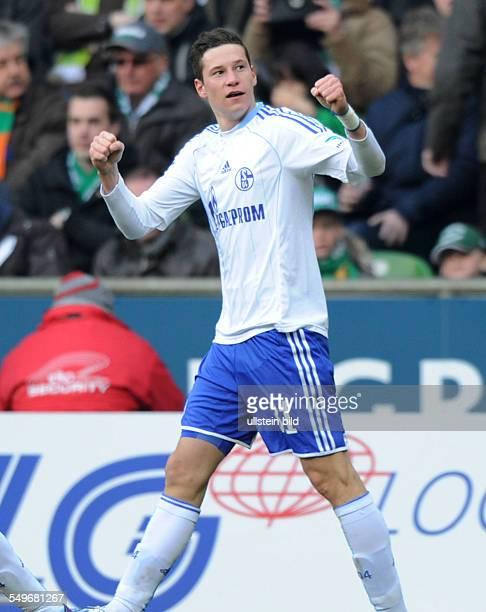 Fussball, Saison 2012-2013, 1. Bundesliga, 28. Spieltag, SV Werder Bremen - FC Schalke 04 0-2, Jubel Julian Draxler