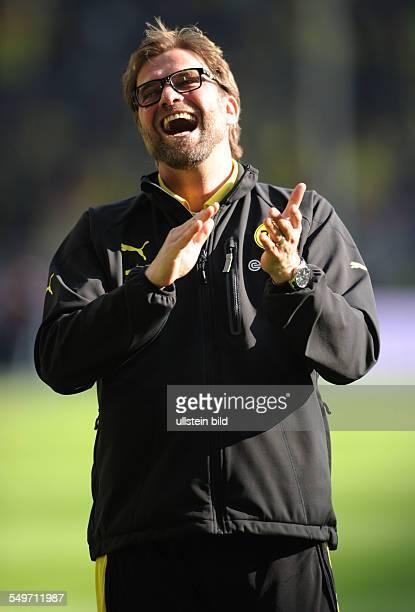 Fussball, Saison 2012-2013, 1. Bundesliga, 30. Spieltag, Borussia Dortmund - FSV Mainz 05, Jubel Trainer Jürgen Klopp