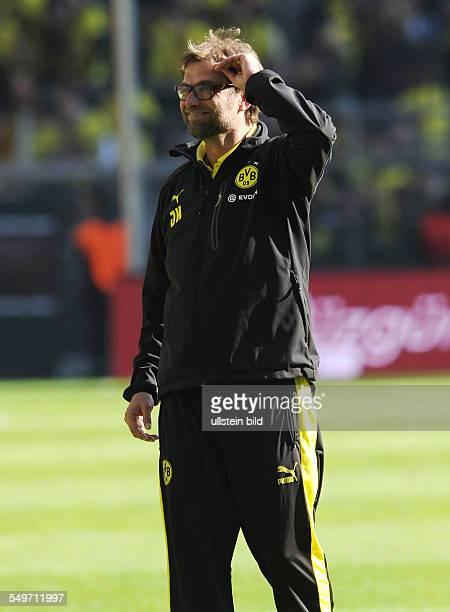 Fussball, Saison 2012-2013, 1. Bundesliga, 30. Spieltag, Borussia Dortmund - FSV Mainz 05, Trainer Jürgen Klopp
