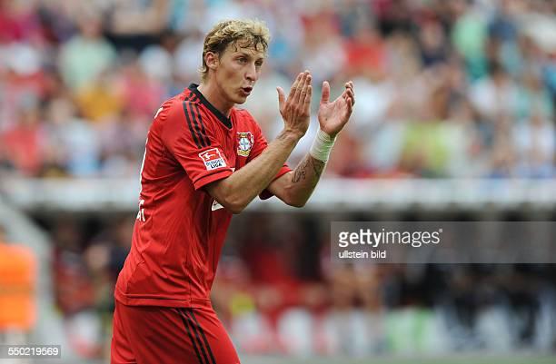 Fussball, Saison 2013-2014, 1. Bundesliga, 1. Spieltag, Bayer 04 Leverkusen - SC Freiburg 3-1, Stefan Kießling