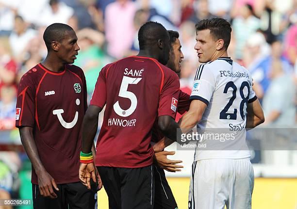 Fussball Saison 20132014 1 Bundesliga 3 Spieltag Hannover 96 FC Schalke 04 21 vre Adam Szalai Karim Haggui Salif Sane Marcelo