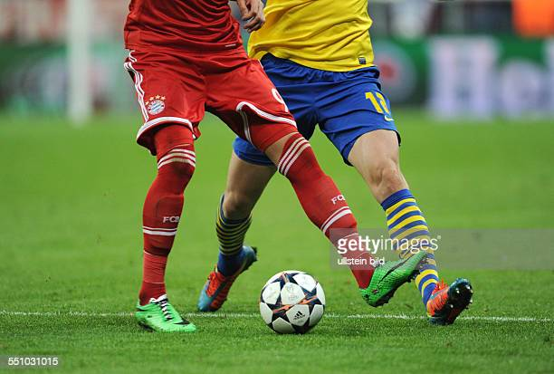 Fussball Saison 20132014 UEFA Champions League Achtelfinale FC Bayern Muenchen Arsenal London 11 Feature Zweikampf