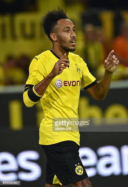 Fussball Saison 2015/2016 Europa League Qualifikation 3 RundeBorussia Dortmund Wolfsberger AC 50Jubel PierreEmerick Aubameyang Pierre Emerick...