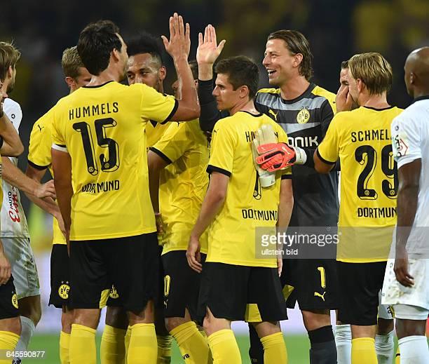 Fussball Saison 2015/2016 Europa League Qualifikation 3 RundeBorussia Dortmund Wolfsberger AC 50vli Mats Hummels PierreEmerick Aubameyang Pierre...
