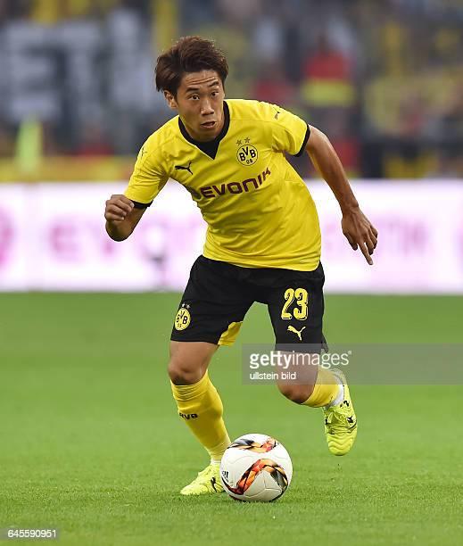 Fussball Saison 2015/2016 Europa League Qualifikation 3 RundeBorussia Dortmund Wolfsberger AC 50Shinji Kagawa