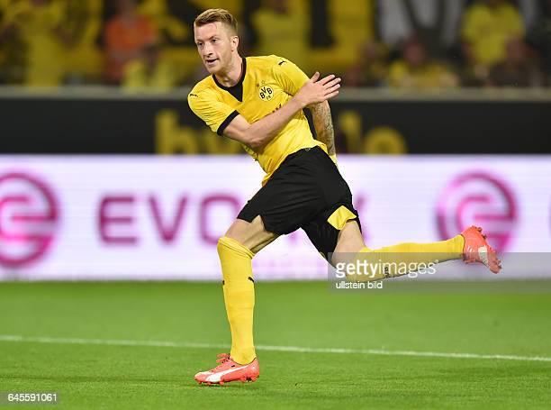 Fussball Saison 2015/2016 Europa League Qualifikation 3 RundeBorussia Dortmund Wolfsberger AC 50Marco Reus erzielt das Tor zum 10
