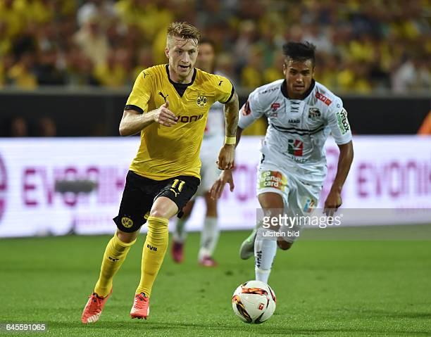 Fussball Saison 2015/2016 Europa League Qualifikation 3 RundeBorussia Dortmund Wolfsberger AC 50Marco Reus li in Aktion