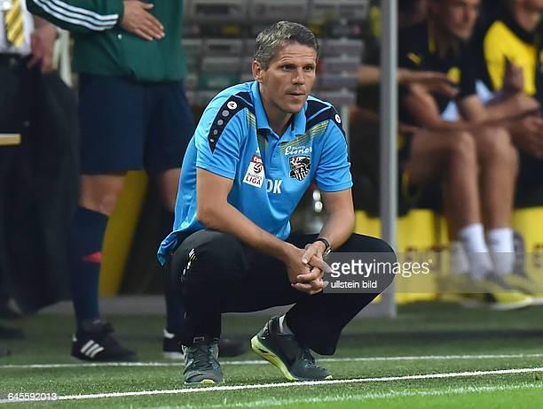 Fussball Saison 2015/2016 Europa League Qualifikation 3 RundeBorussia Dortmund Wolfsberger AC 50Trainer Dietmar Kühbauer