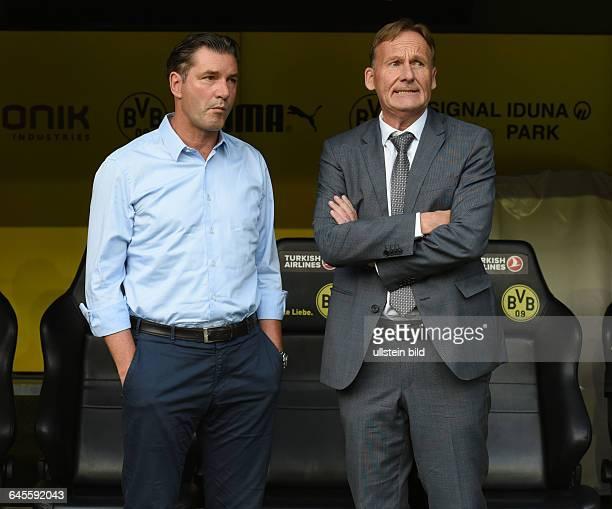 Fussball Saison 2015/2016 Europa League Qualifikation 3 RundeBorussia Dortmund Wolfsberger AC 50Manager Michael Zorc li und Geschaeftsfuehrer...