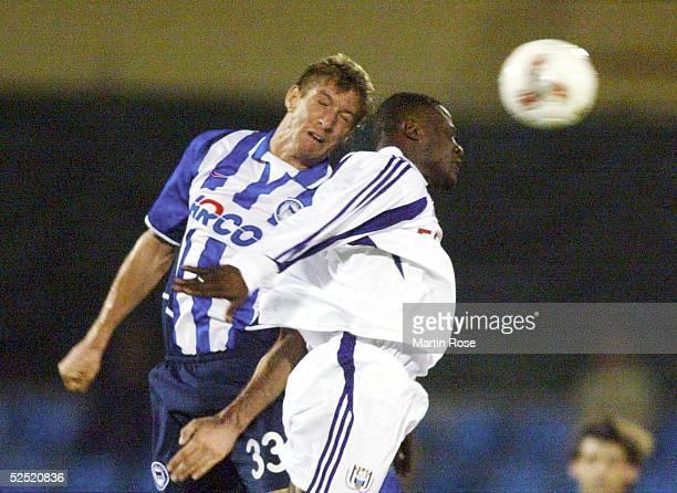 Fussball: Turnier 2004, Maspalomas; Hertha BSC - RSC Anderlecht 1:2; Marko REHMER / Hertha, Vincent KOMPANY / Anderlecht 12.01.04.