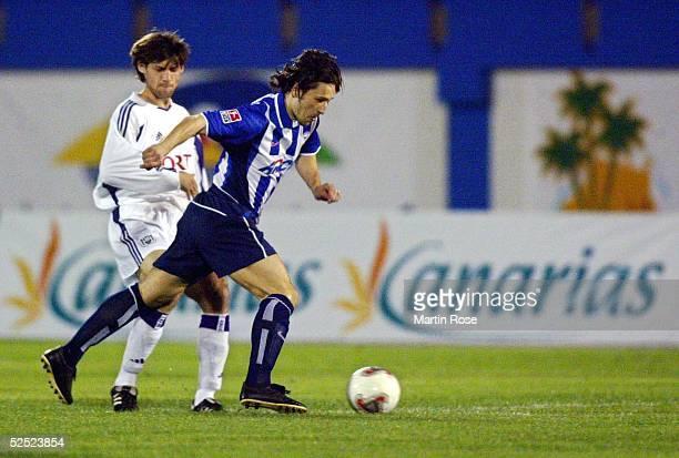 Fussball Turnier 2004 Maspalomas Hertha BSC RSC Anderlecht Olivier DESCHACHT / Anderlecht Niko KOVAC / Hertha 120104
